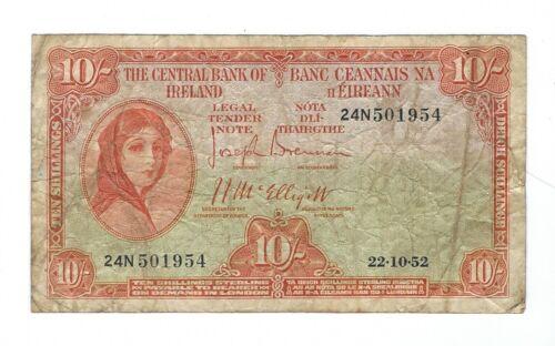 Ireland - Ten (10) Shillings, 1952