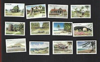 Nevis sc#O11-22 (1981) Complete MNH