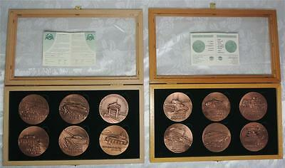 """ISRAEL ARMORED CORPS """"THE TANKS THAT MADE HISTORY"""" 12 MEDALS 70mm COPPER+BOX+COA"""