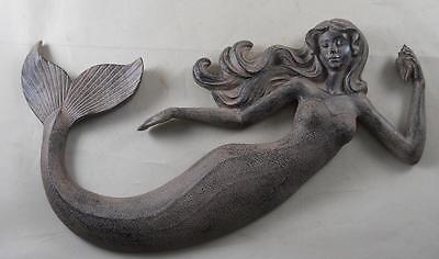 Resin Mermaid Wall Decor Mermaids Nautical Tiki Plaque Seaside Beach Decor ()