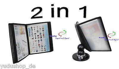"""""""2 in1"""" Sichttafel Wandhalter Tischständer mit 10 Sichttafeln"""