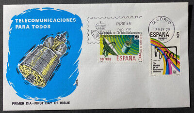FIRST DAY Cover  SPACE, SATELLITE, 1979  SPAIN  Telecommunications
