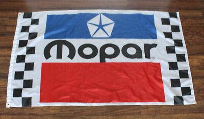 New Mopar Racing Checkered Banner Flag Dodge Motorsports 3' x 5' Auto Car - Checkered Racing