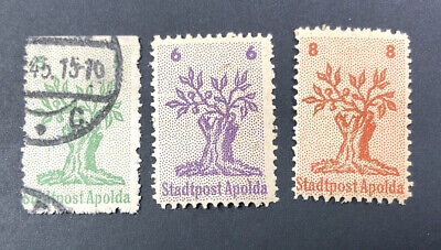 Stamp Germany 1945 Local Edition Apolda Complete Set MH & Used