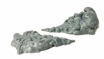 Custom Action Figure Diorama Display Accessory Smoke Fighting  Effect Gray 1/12