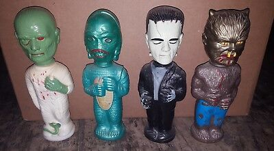Vintage Universal Monsters soakies Frankenstein Creature Wolfman Mummy set