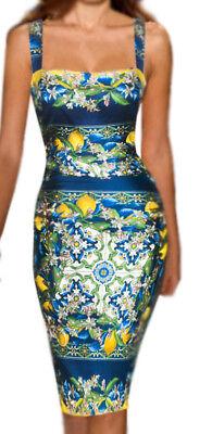 Gorgeous!!! DOLCE & GABBANA ITALY floral print dress It size 44-46 US M-L