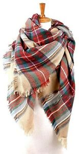 SOFT PLAID BLANKET SCARF - EXCELLENT CONDITION!
