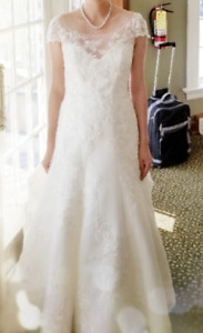Wedding Dress Casablanca 2180, Ivory Bateau A Line