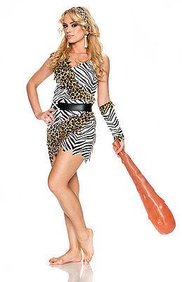 Halloween Cavewoman (Barbarian Brauty Cavewoman Costume Jungle Jane Halloween Adult Size)
