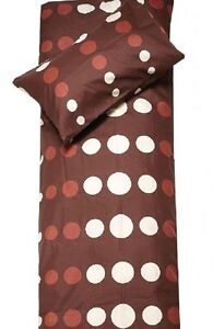 Single bed, Twin - chocolate DUVET Cover Set - POLKA DOTS