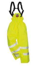 Portwest S780 Bizflame Rain Unlined Hi-Vis Antistatic FR Trouser size M