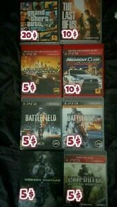 PS3 games to sell all in good condition