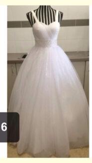 Deb or wedding waisted dress