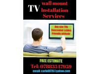 TV wall mount installation service