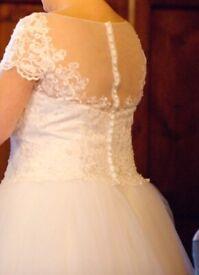Tea Length Wedding Dress size 16-18