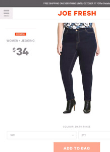 Womens black jeggings