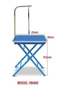 Portable Pet Grooming Table Blue 190402