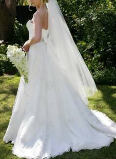 Liza Emanuele, Custom Made, Size 10 Wedding Dress