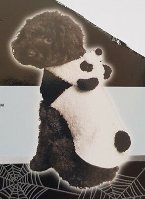 Pet Dog Fluffy Panda Bear Fancy Dress Outfit Plush Costume (Pet Panda Kostüm)