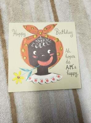Vintage Card, Black American, Hallmark Birthday Card, 25-B108-2,