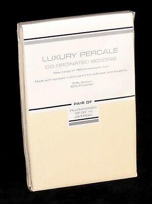 Bulk Buy Wholesale Cheap Bedding - 10 Pairs (20pcs) of PLAIN CREAM Pillow Cases