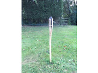 Tiki torches – 16 bamboo torches, used, in good condition