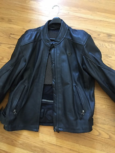 Rev it Leather Motorcycle Jacket with Removable Padding