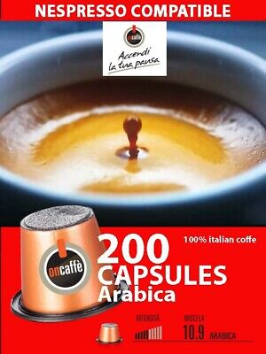 200  nespresso compatible coffee capsules OriginalLine machine , arabica
