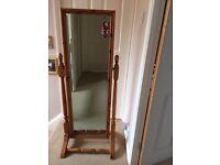 Pine Bedroom standing mirror (1.3metres)