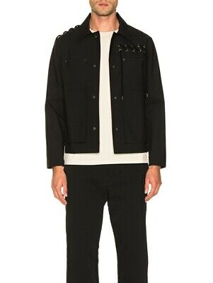 Craig Green $1380 Laced Pockets Bonded Snap Button Worker Jacket Size Large