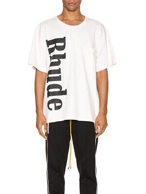 Rhude Logo Pocket Tee Shirt Small White