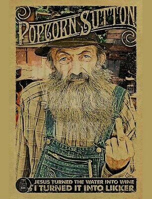 MARVIN POPCORN SUTTON ATF WANTED POSTER JACK DANIELS OF MOONSHINE 8.5 X11 PHOTO