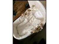 Mamas and Papas moses basket with a stand
