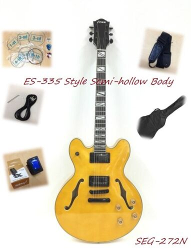 Haze SEG-272N Gloss Natural Semi-Hollow Body,