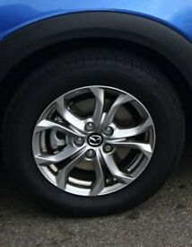 "4 x 16"" alloy wheels with Bridgestone tyres (only done 400miles!!)"