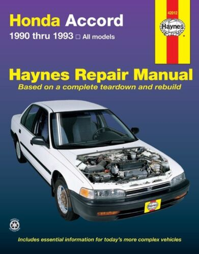 Repair Manual-SE Haynes 42012 fits 90-91 Honda Accord