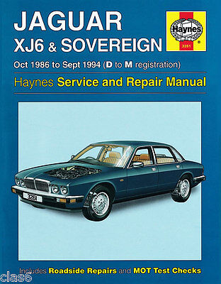 Jaguar XJ6 XJ40 Owners Workshop Manual 1986 to 1994 by Haynes *NEW