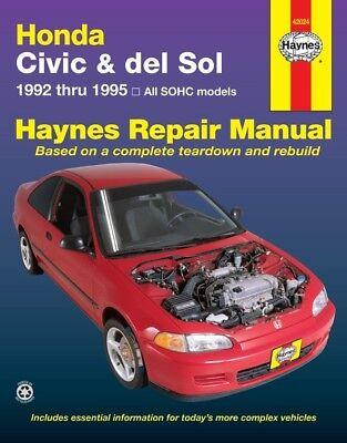Repair Manual Haynes 42024 fits 92-95 Honda Civic