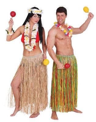 Orl - Bastrock mit Gummi 80cm natur Hawaii Kostüm Karneval (Kostüm Karneval Natur)