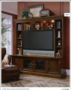 """Entertainment Console with Hutch 82"""" 'Hooker Furniture'"""