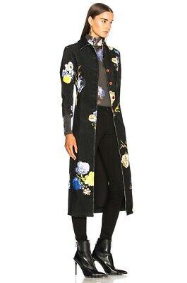 NWT $1300 Acne Studio Floral Okki Coat FR 36/XS