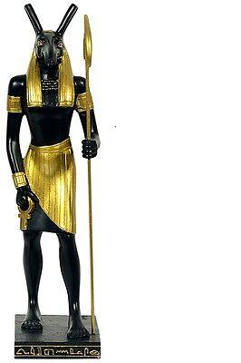 seth  stehend Ägypten Figur  schwarz/gold ägyptische Figur  NEU