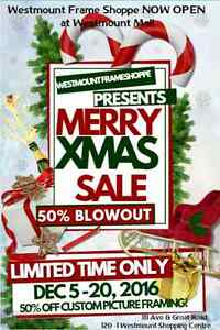 PICTURE FRAMING HOLIDAY SALE - NOW OPEN @ Westmount Mall