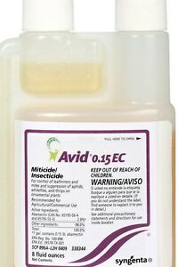 4 FL.OZ AVID 0.15 EC Miticide insecticide 120 ML with 10 pipettes and 2 SYRINGE