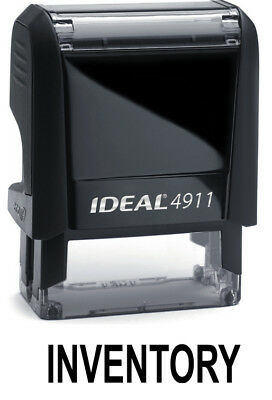 Inventory Text On Ideal 4911 Self-inking Rubber Stamp With Black Ink