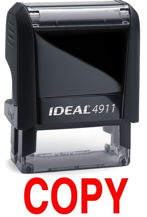 COPY stamp text on IDEAL 4911 Self-inking Rubber Stamp with RED INK