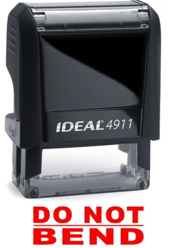 DO NOT BEND text on an IDEAL 4911 Self-inking Rubber Stamp with RED INK