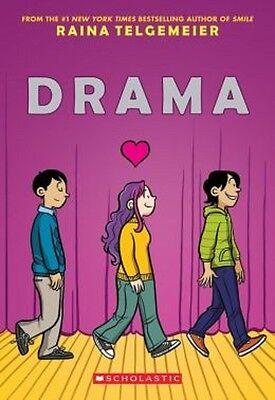 DRAMA by Raina Telgemeier (2012( children's NEW graphic novel chapter book