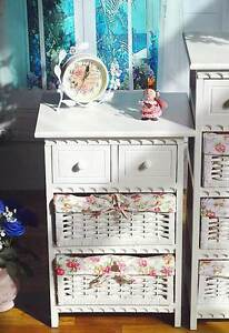 Cabinet-4-Storage-Box-Drawers-Basket-Shelf-Cupboard-Bedroom-Baby-White-Large